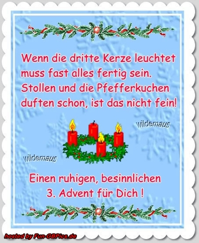 3. Advent Whatsapp Bilder