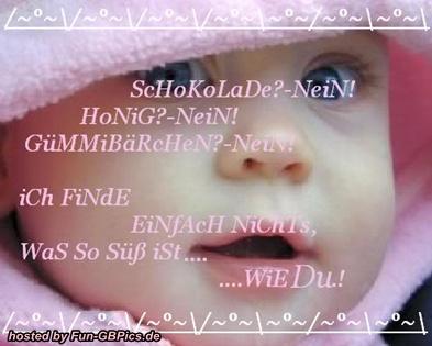 Du bist süss Spruch Bild - Facebook Bilder-GB Bilder