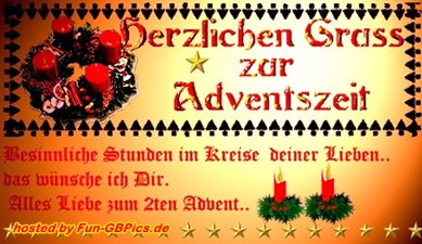 zweiter advent gif facebook bilder gb bilder whatsapp. Black Bedroom Furniture Sets. Home Design Ideas